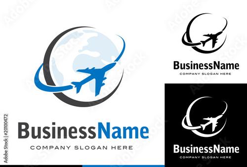 Fotografie, Obraz  Business logo design avion / transport