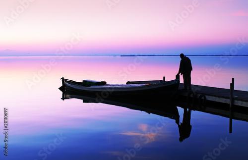 la barca Tablou Canvas