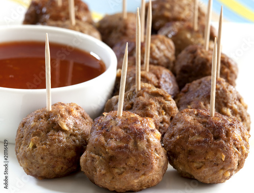 Tuinposter Voorgerecht Meatballs