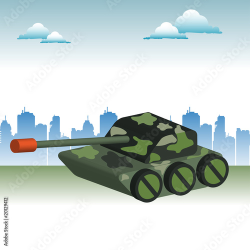 Poster Militaire Camouflaged tank
