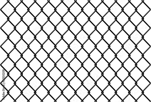 Fotografie, Obraz  Chainlink fence Vector with reflection