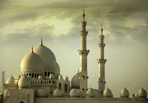 Fotografia  Grand Mosque Abu Dhabi