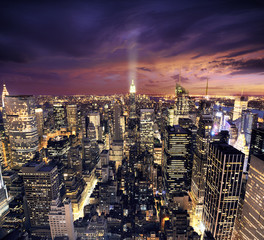 Panel Szklany Nowy York New york skysrcrapers - bussines buildings background