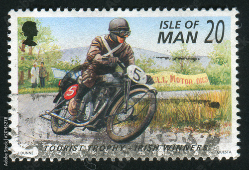 Deurstickers Fiets postmark