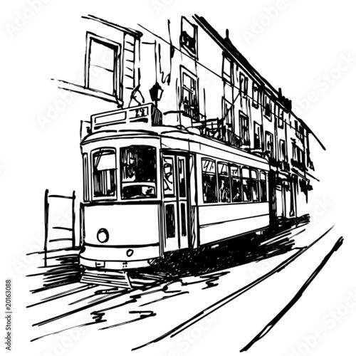 ilustracja-wektorowa-typowego-tramwaju-w-lizbonie-portugalia