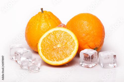 Poster Dans la glace Icy Oranges