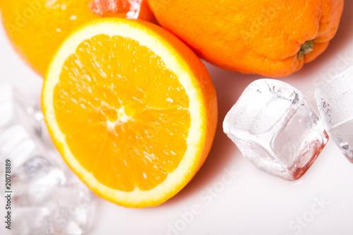 Poster Dans la glace Icy Fruits, Diet