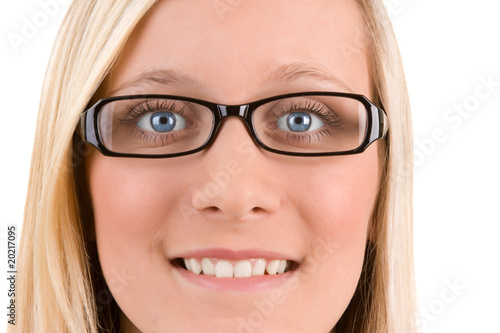 Blond Teenager With Glasses