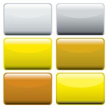 Metallic Oblong Web Buttons