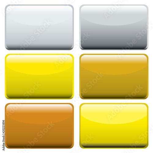 Photo  metallic oblong web buttons