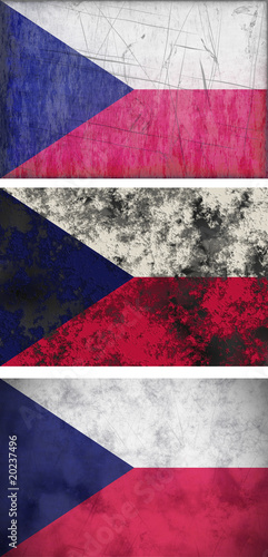 Fototapety, obrazy: Great Image of the Flag of Czech Repulic