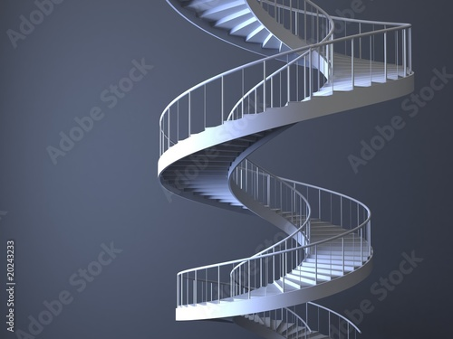Spiral strairs isolated Wallpaper Mural