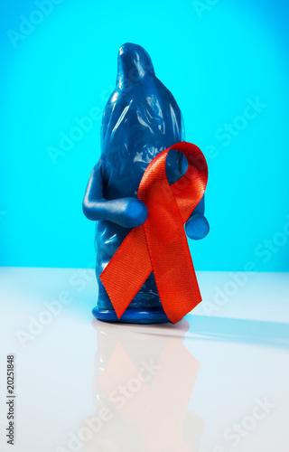 Spoed Foto op Canvas Schilderkunstige Inspiratie Anti AIDS