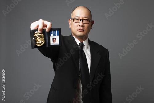 Fotografie, Obraz  FBI agent with badge.