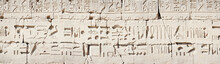 Hieroglyphic Relief In The Temple Of Karnak At Luxor
