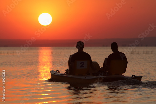 Fotobehang Pier Sunset in the sea
