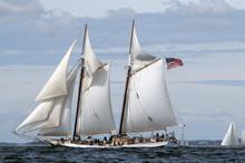 Schooner Sails Over The Ocean ...