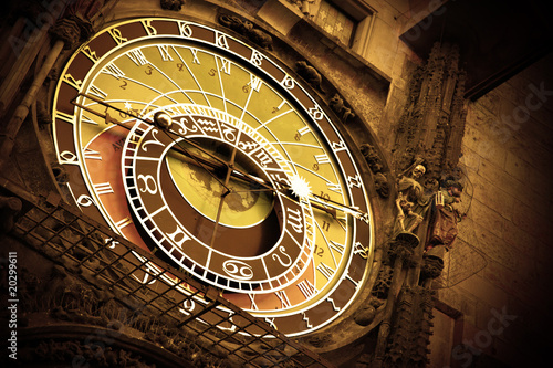 Old astronomical clock on Old Town Hall, Prague