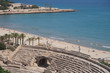 Ruins of an old amphitheatre on seacoast. Tarragona. Spain