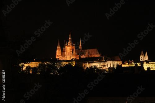 Fotobehang Volle maan Prague in the night