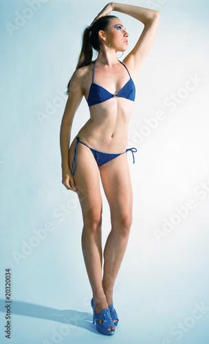 Fototapeta woman in swimsuit obraz na płótnie