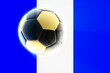 canvas print picture - Flag of Guatemala soccer