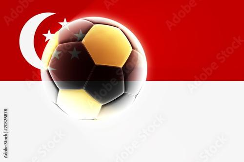 Flag of Singapore soccer Poster