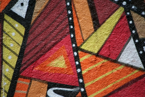 dettaglio di graffiti astratti