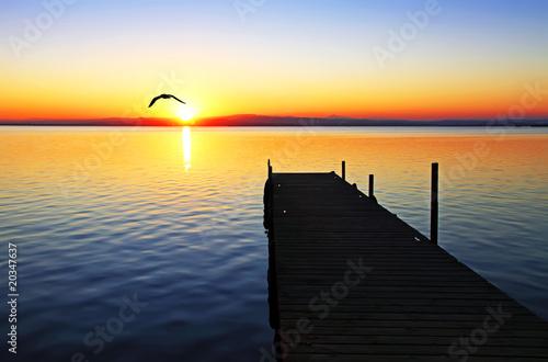 Fototapeten Pier colores de verano