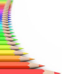 Fototapeta samoprzylepna pencil's template vertical