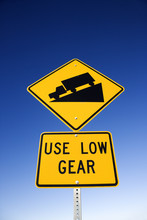 Road Sign With Warning For Trucks