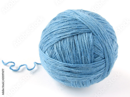 Photo  blue wool skein