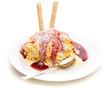 canvas print picture - Eiscreme - Spaghettieis der moderne Klassiker