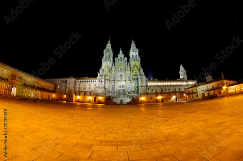 Leinwand Poster Santiago de Compostela - Catedral