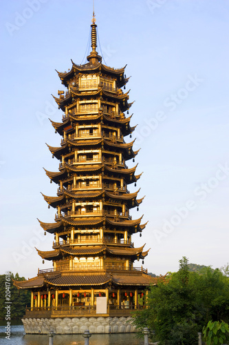 Foto op Plexiglas China Sun Pagoda, Guilin, China
