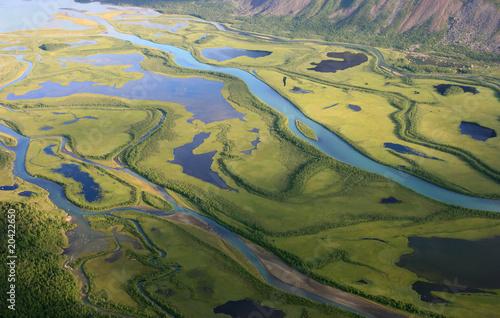 Wall mural - Green arctic delta