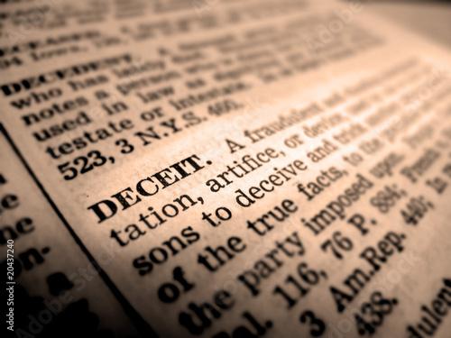 Photo Definition of Deceipt