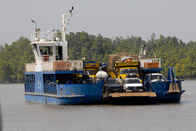 The Ferry Crosses Gambia River