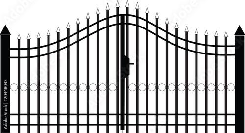 Fotografia gate silhouette vector