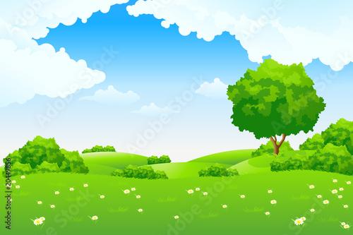 Aluminium Prints Blue Green landscape