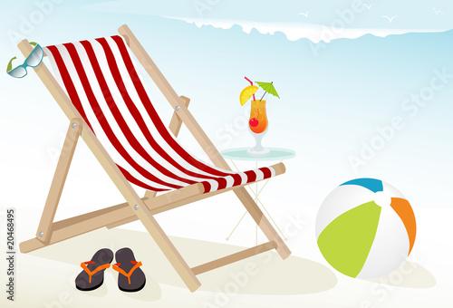 Beach Fun Icons Canvas Print