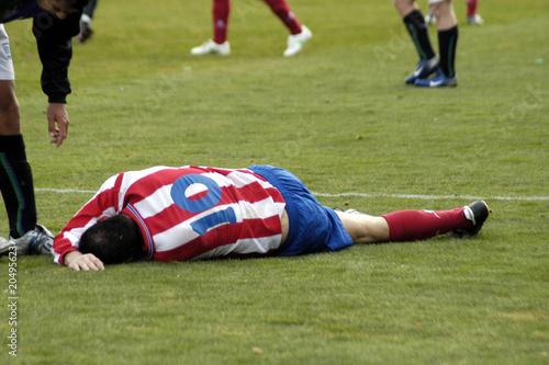 Canvas Print Futbolista herido 20