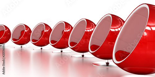 Photo  Red Ball Chairs