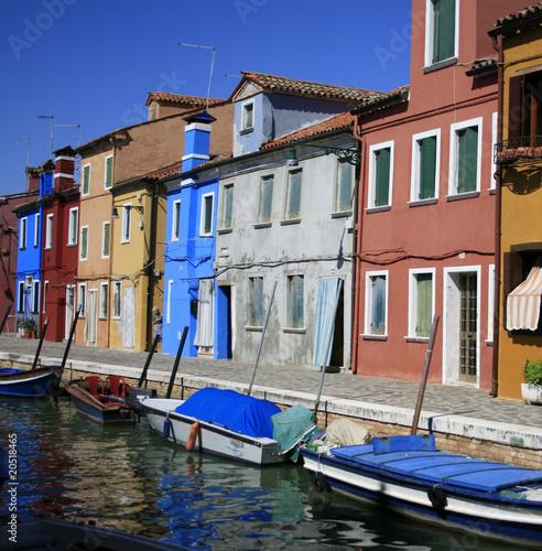 Fototapety, obrazy: maisons colorées de Burano face  à Venise