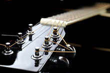 Neck Of Black Guitar