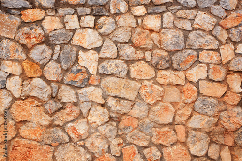 In de dag Stenen Stone wall. Texture.