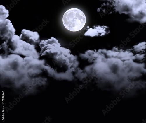 Obraz old full moon - fototapety do salonu