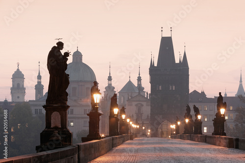Photo  prague charles bridge