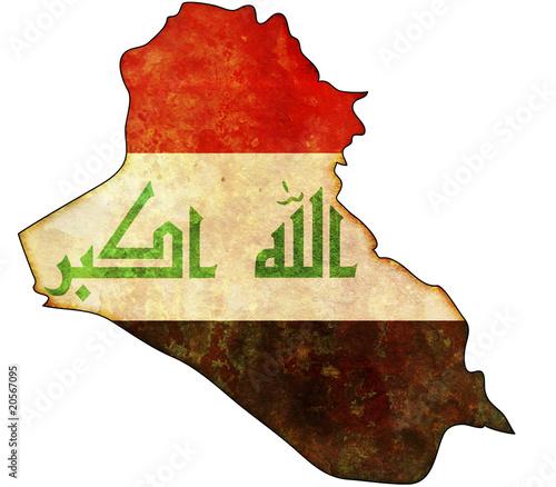 Fotografering  iraq map