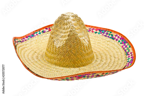 Fotografie, Obraz  Sombrero isolated on white